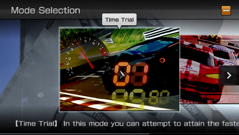 GT PSP - Time Trial Mode