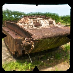 Amtrac (heritagefutures) Tags: field islands war tank north landmark historic spanish v damage hr northern commonwealth dirk mariana allrightsreserved preservation saipan amtrac albury cnmi lvt tinian spennemann commonwealthofthenorthernmarianaislands heritagefutures ausphoto