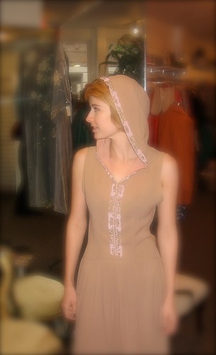 1930's Hooded Gown
