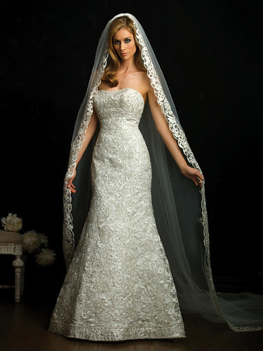 Two appearances in a wedding dress.