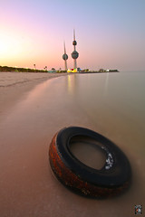 Wheel (mhels_13) Tags: sunset seascape tower wheel seaside sand kuwait ramil oceansea pastelcolour kuwaittower mhels13