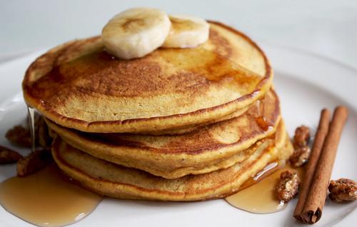 Banana Pumpkin Pancakes