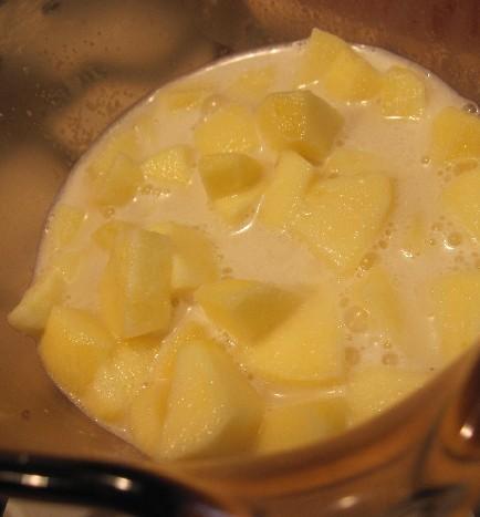 Apples Cooking in Hemp Milk
