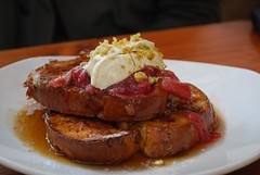 French Toasted Brioche - Auction Rooms Cafe AUD14 (avlxyz) Tags: food breakfast dessert cafe sweet frenchtoast vic vanilla syrup yoghurt maplesyrup labna rhubarb brioche northmelbourne labne vanillabean auctionrooms auctionroomscafe northmelbournevic