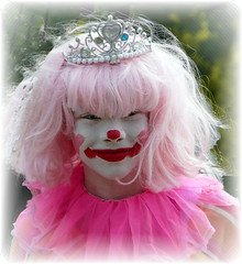 Pinky the Clown (chippewabear) Tags: pink girl festival kids children happy clown theperfectpinkdiamond