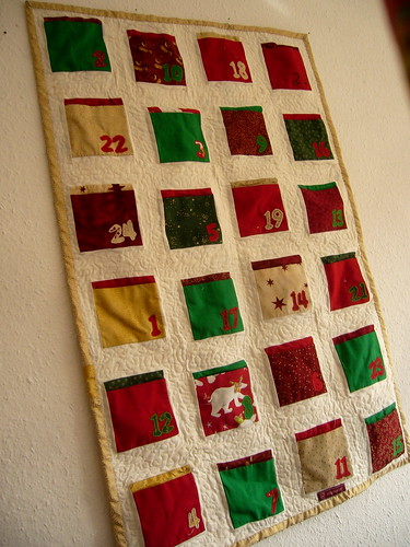quilted advent calendar.