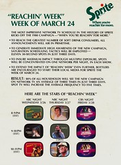 """Sprite """"Reachin' Week"""" - Week of March 24, 1980 (The Cardboard America Archives) Tags: vintage ads advertising cola sprite pop commercial soda 1980"""