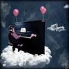 "°... piano in heaven ...° ( Bianca Dörfel ) Tags: pink sky music girl clouds photoshop balloons heaven notes little piano bow cecilia cs4 creattività adriënnesmagicalmoments ""creativeoutbursts"""