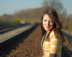 Melinda 1 (TSphoto1) Tags: railroad portrait senior girl 50mm nikon bokeh tracks d80 f118 nikoncapturenx