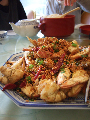 deep fried crab with garlic