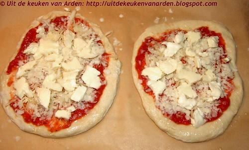 Pizza met tomatensaus