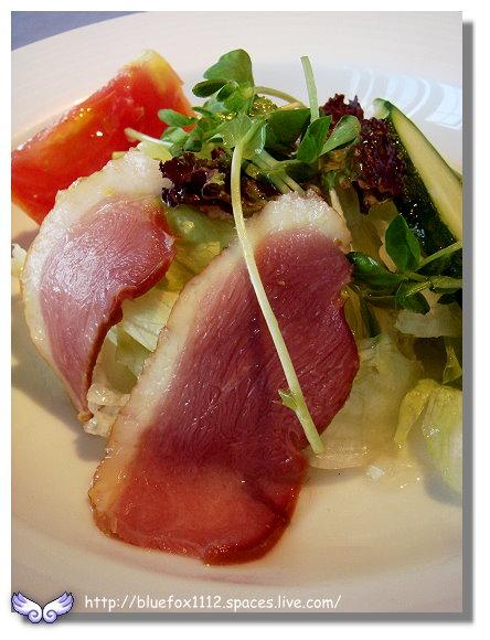 091112綠風莊園餐廳07_燻鴨胸沙拉佐檸檬芥末籽醬