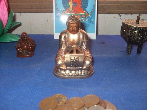 My altar Buddha