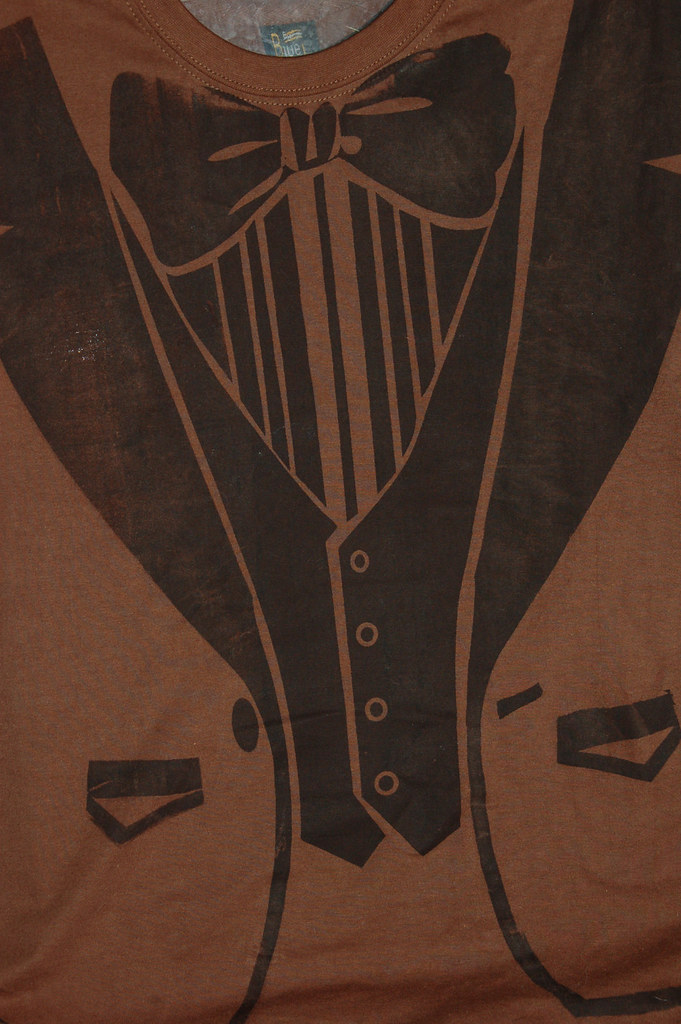 Vintage tuxedo --- ScreenPrinted T-Shirt---S-XXL