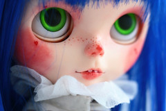 (oso_polar) Tags: red by nose oso for funny circus clown wig blythe custom adoption obitsu