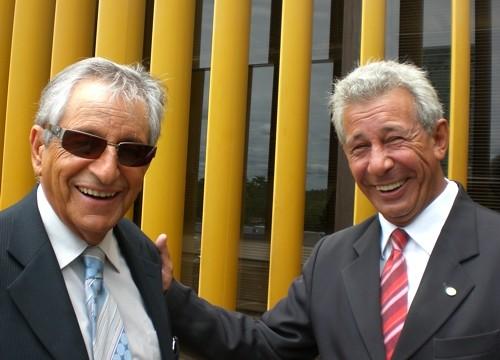 Antônio Roberto em encontro com o deputado Fernando Gabeira (PV-RJ)