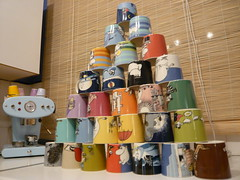 28 Moomin Mugs! (G Travels) Tags: london home kitchen moomin arabia muumi tovejansson hackney moomins coffeemachine x1 francisfrancis moominmugs lucatrazzi
