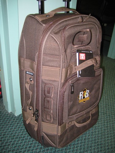 RustyBrick OGIO Roller Bag (Brown Plaid Color)