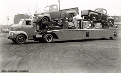 Car Transporters 1950's (PaulO Classic. ©) Tags: collection scanned 1950 transporters
