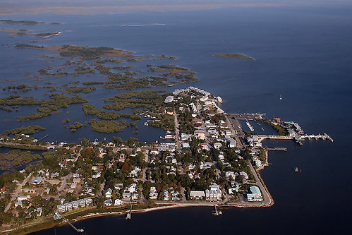 Aerial Shot of Cedar Key, Florida