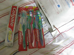 Freebies from Colgate. Shall see if the ants get these ones