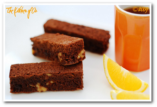 Chocolate Brownie with Orange