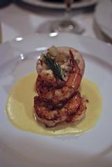 Mirliton & Shrimp stuffed Trout