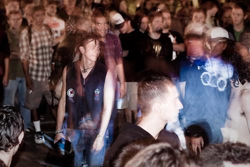 El público más pesado disfutó con Adrenal. Foto Sebastian Castro