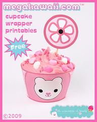 Free Kawaii Cupcake Wrappers