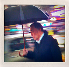 """I Saw a Man Rushing in the Night under His Umbrella"" (Sion Fullana) Tags: urban newyork painterly blur rain night umbrella square lights lluvia streetphotography squareformat timessquare citylights nightshots paraguas allrightsreserved newyorkers iphone rainynight 500x500 urbanshots fakepolaroids creativeshots urbannewyork artisticblur lovetherain iphoneshots iphoneography newyorkintherain iphoneographer sionfullana shakeitapp asianmanwithumbrella throughthelensofaniphone"