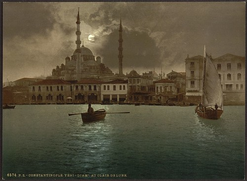 [Yeni-Djama (i.e., Yeni Cami) by moonlight, Constantinople, Turkey] (LOC)