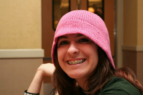 Caitlin is stylin' with her hat