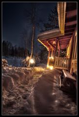 winternight in cottage (Yuhaka) Tags: new winter lights year cottage 2009 2010 ylikiiminki nuoritta