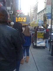 view from line outside Ed Sullivan Theater (PeteyIsCuterThanHerb) Tags: nyc newyork lateshowwithdavidletterman edsullivantheater