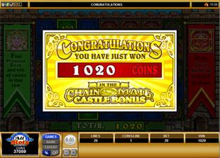 free Chain Mail gamble bonus feature