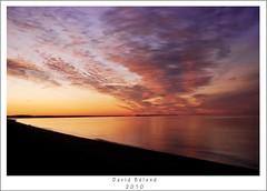Sunrise on the Golf (David Béland) Tags: camping sea sky mer seascape water colors clouds sunrise golf soleil nikon eau day colours ciel stlawrence 1855mm stlaurent campground nuages 2010 jours levé côtenord d80 nikond80 minganie havrestpierre davidbéland