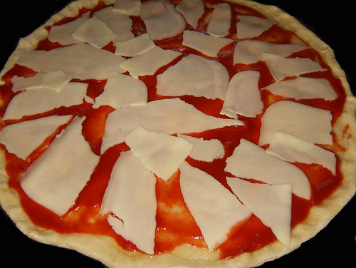 Pizza zamburiñas,atún-jamón-añadir queso.