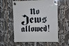 No Jews Allowed (sfPhotocraft) Tags: sign germany washingtondc words 1930s nazi hate racism discrimination holocaustmuseum nojews nojewsallowed wordsofhate