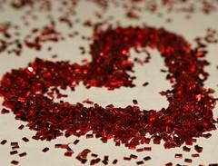 blurred love (Anish Palekar) Tags: red macro love glitter 50mm colorado boulder valentine ring reverse 18 manualmode reversering manualmetering