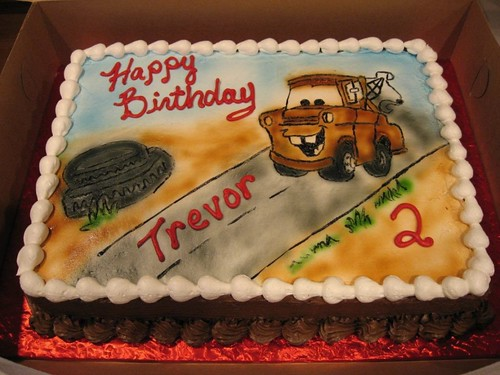 images of cars cakes. Cars - Mater Cake