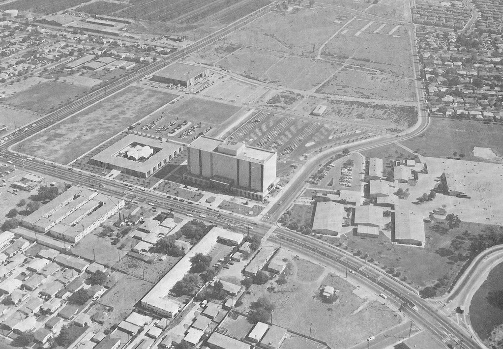 Norwalk City Hall, Superior Court, Aerial View, 1960's