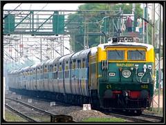 Karnataka Sampark Kranti Express (Vishal Khare) Tags: india train canon is long fast powershot maharashtra express karnataka nagpur livery indianrailways haryana 2630 ajj irfca 22001 kranti sampark yeshwantpur sapthagiri hazratnizamuddin sx10 wap1 asaoti