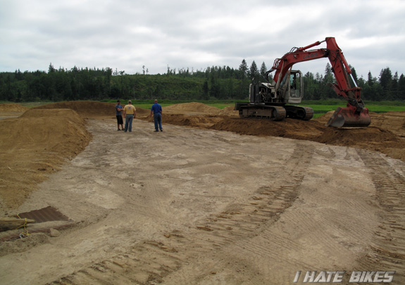 Construction of the new BMX track in Astoria, OR