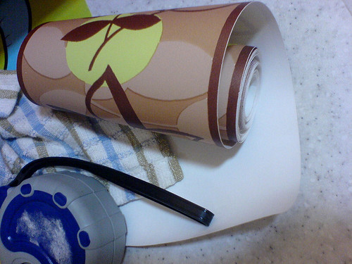 calvaryzone: task #12. kitchen wallpaper liner