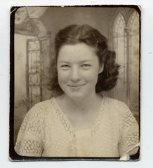Her smile (Awkward Boy Hero) Tags: church beautiful smile oregon portland northwest lace blouse oldphotos foundphotos antiquephotos somanyuniquetreasures exceptmaybenotoregon awkwardboyhero