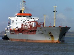 Frank about to enter Manchester Ship canal (Penmorfa's Photos) Tags: ships shipping tugs coasters tankers manchestershipcanal