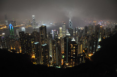 Victoria Peak at night (Jason's Travel Photography) Tags: china city fog night hongkong searchthebest thepeak victoriapeak take5 jasonstravel perfectescapes