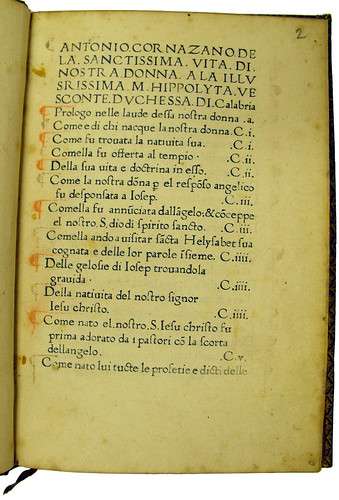 Coloured paragraph marks in Cornazzano, Antonio: La vita della Vergine Maria