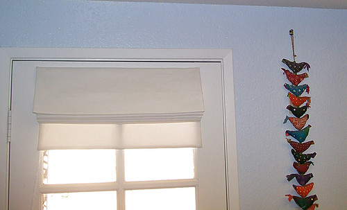roman blinds before