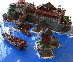 Grimmhavn (THE BRICK TIME Team) Tags: brick castle windmill lego pirates northland schiff inquisition burg hanse ritter nordland windmuehle hansekogge thebricktime grimmhaven bricktime grimmhavn